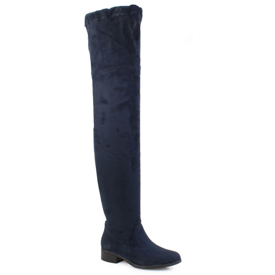 Γυναικείες μπότες με χαμηλό τακούνι Μπλε