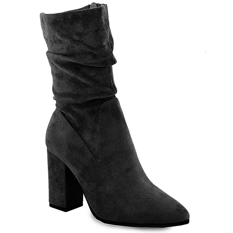 Γυναικεία μποτάκια ψηλοτάκουνα τύπου κάλτσα Μαύρο