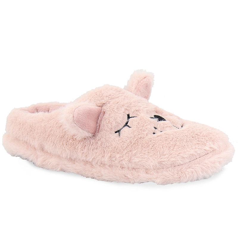 Γυναικείες παντόφλες ζωάκι με αυτάκια Ροζ γυναικα   παπούτσια   παντοφλεσ
