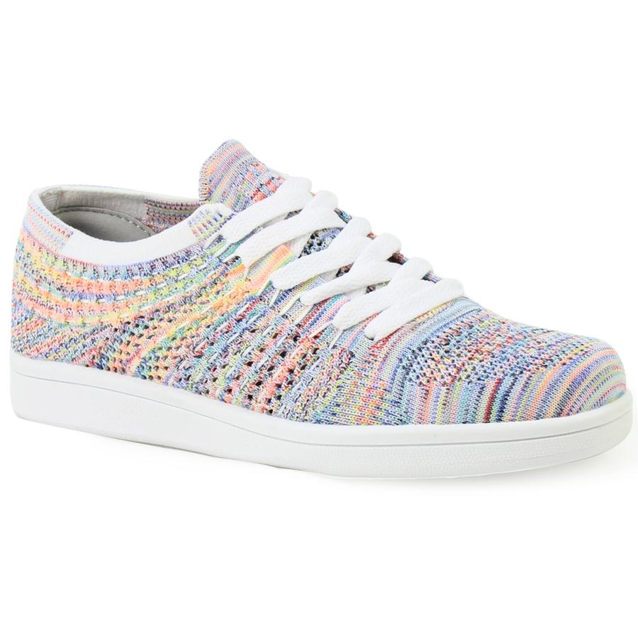 Γυναικεία sneakers με multicolor γαζιά Multi