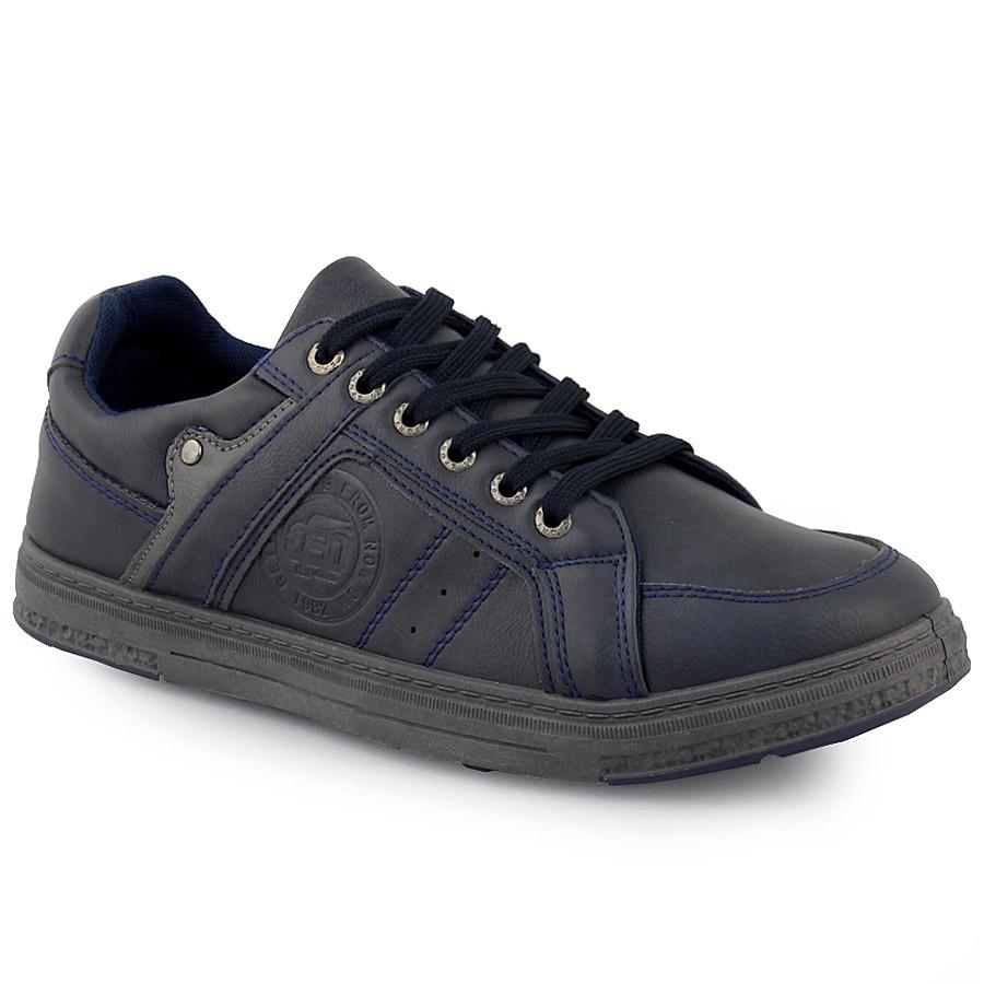 Ανδρικά sneakers με ανάγλυφο σχέδιο Μπλε