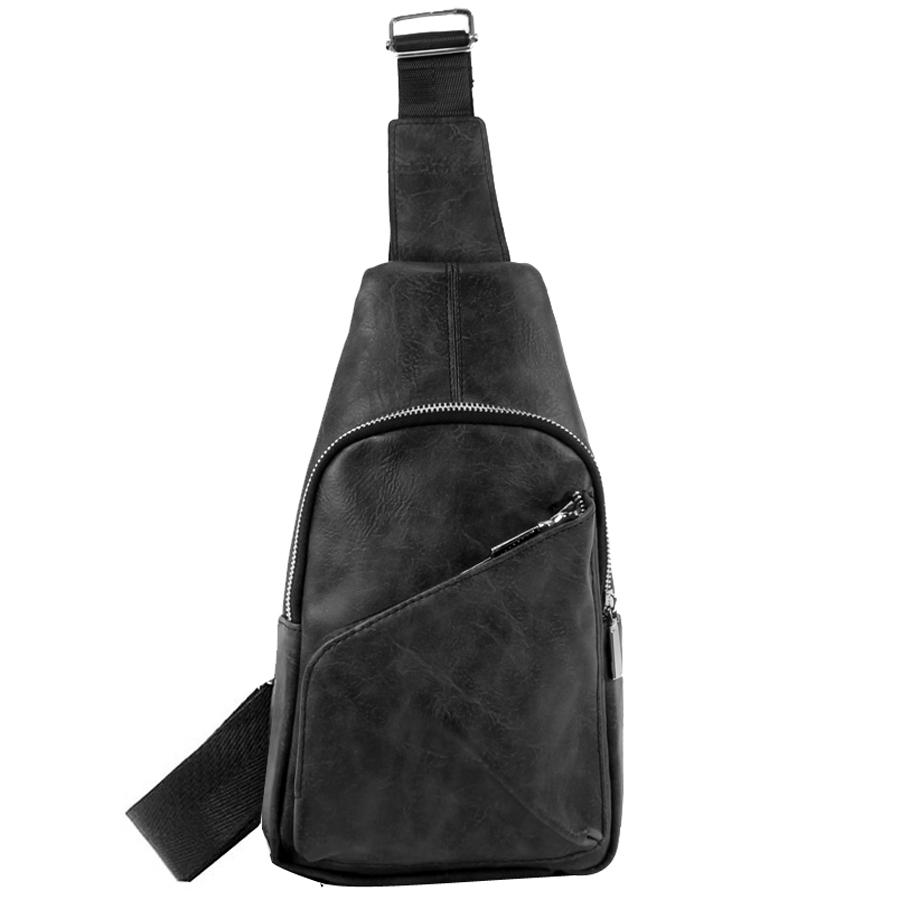 Ανδρικές τσάντες με διαγώνιο φερμουάρ Μαύρο ανδρασ   τσάντες   ωμου