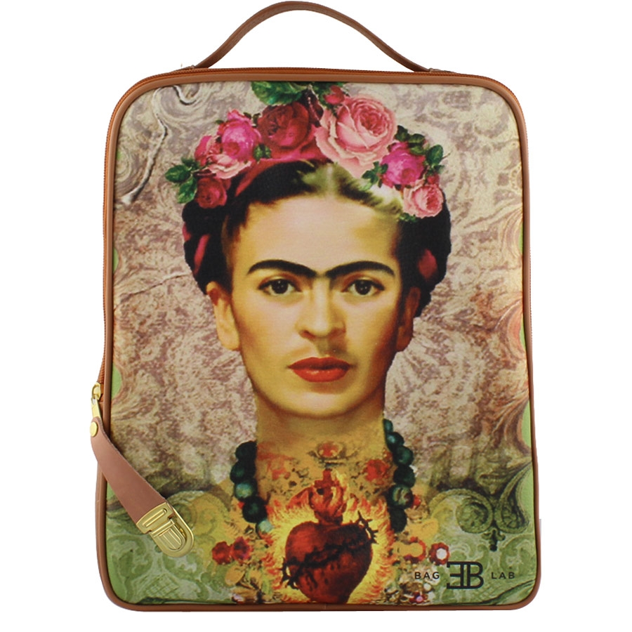 Σακίδια πλάτης με print Φρίντα Ταμπά