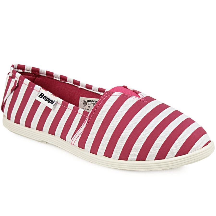 Γυναικεία loafers ριγέ Φούξια