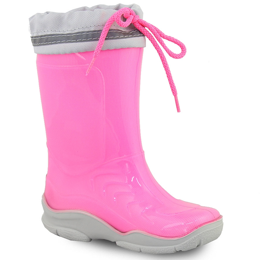 cfe071db809 -50% Inshoes Γαλότσες παιδικές δίχρωμες με σούρα Φούξια