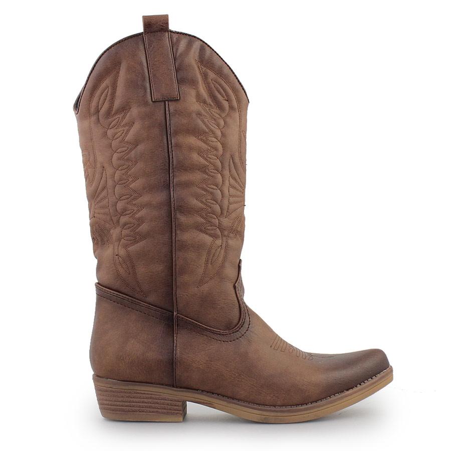 Γυναικείες μπότες τύπου cowboy style Ταμπά