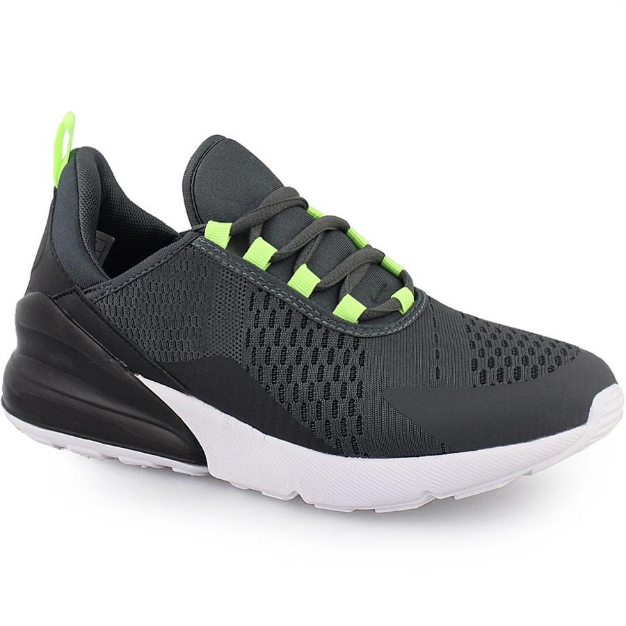 Ανδρικά sneakers δίχρωμα με χρωματιστή λεπτομέρεια Γκρι