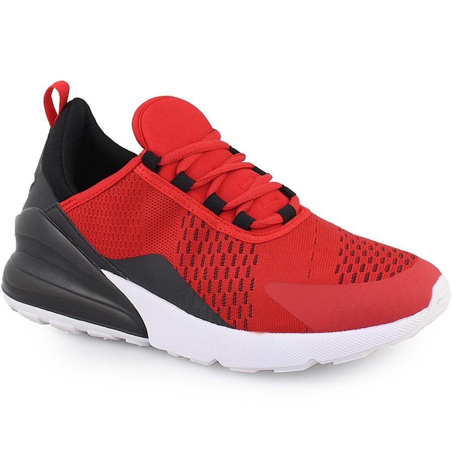 Ανδρικά sneakers δίχρωμα με χρωματιστή λεπτομέρεια Κόκκινο