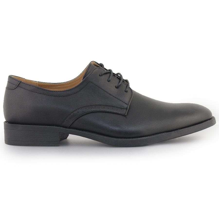 Ανδρικά loafers με περφορέ λεπτομέρεια Μαύρο