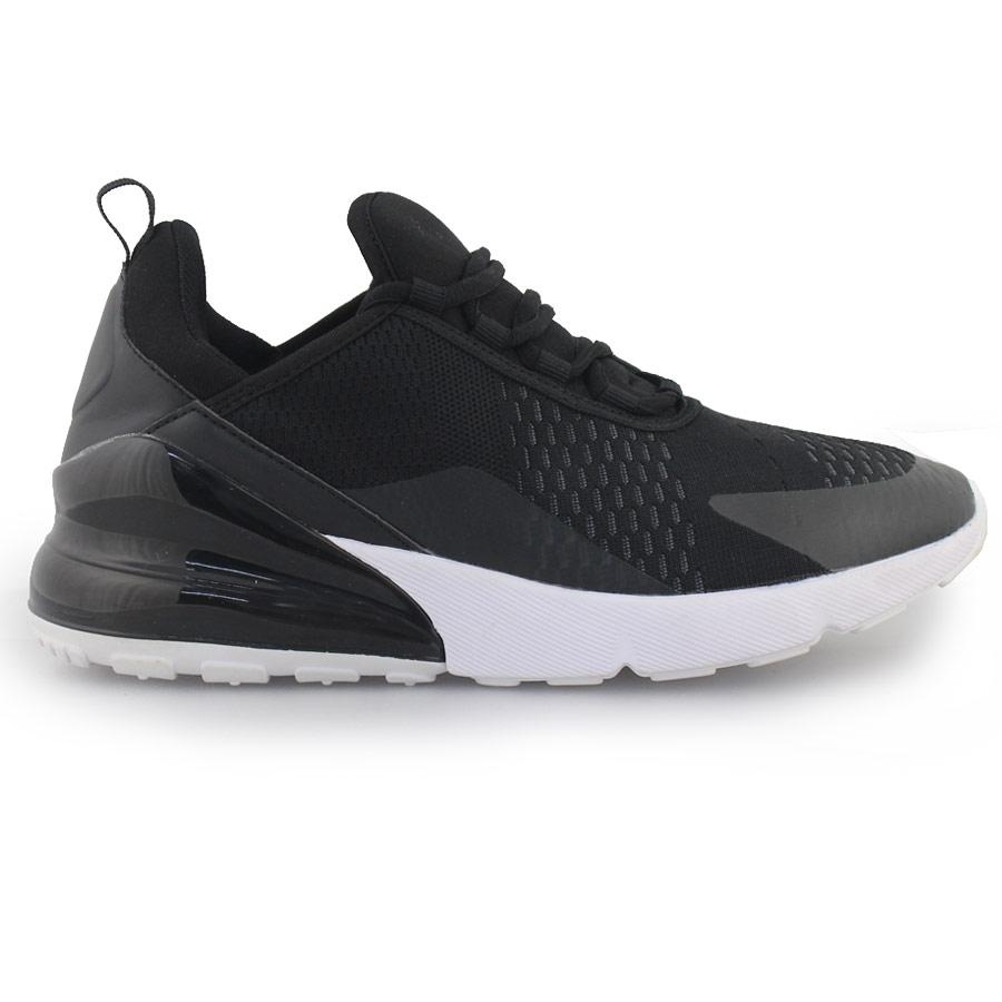 Ανδρικά sneakers δίχρωμα με χρωματιστή λεπτομέρεια Μαύρο