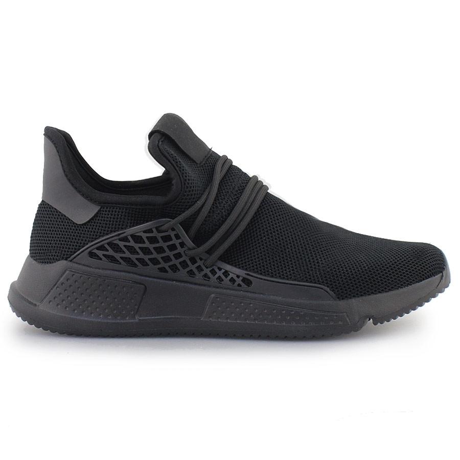 Ανδρικά sneakers με ανάγλυφα σχέδια Μαύρο