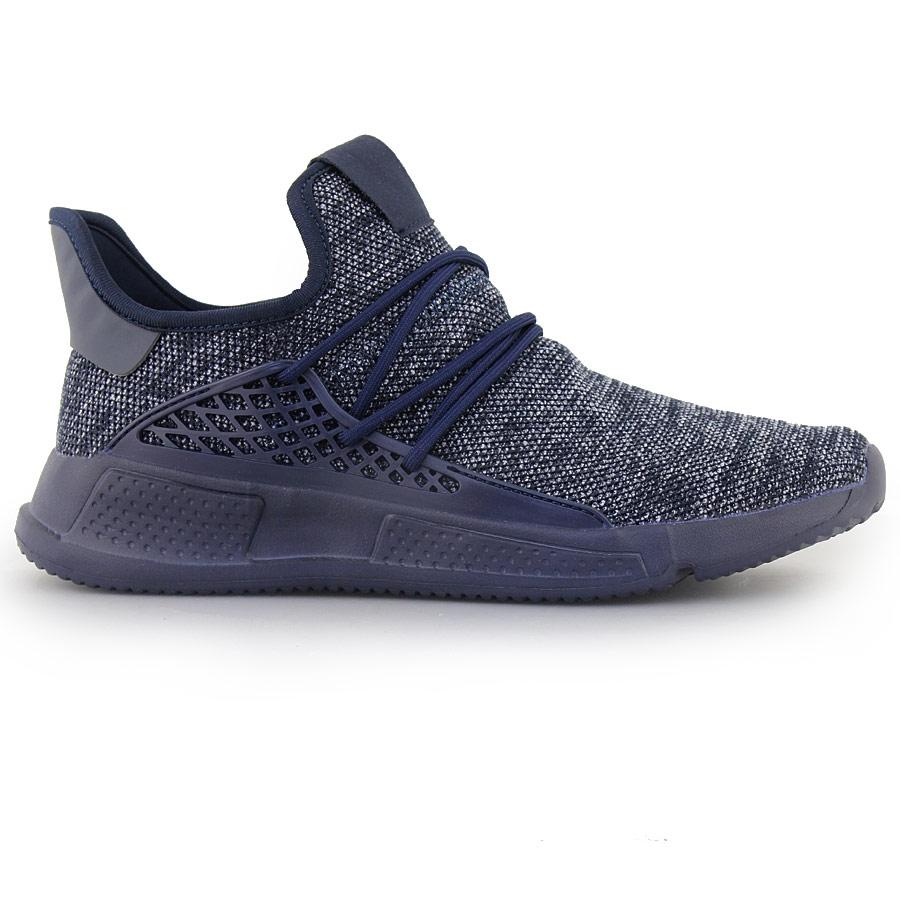 Ανδρικά sneakers με ανάγλυφα σχέδια Μπλε