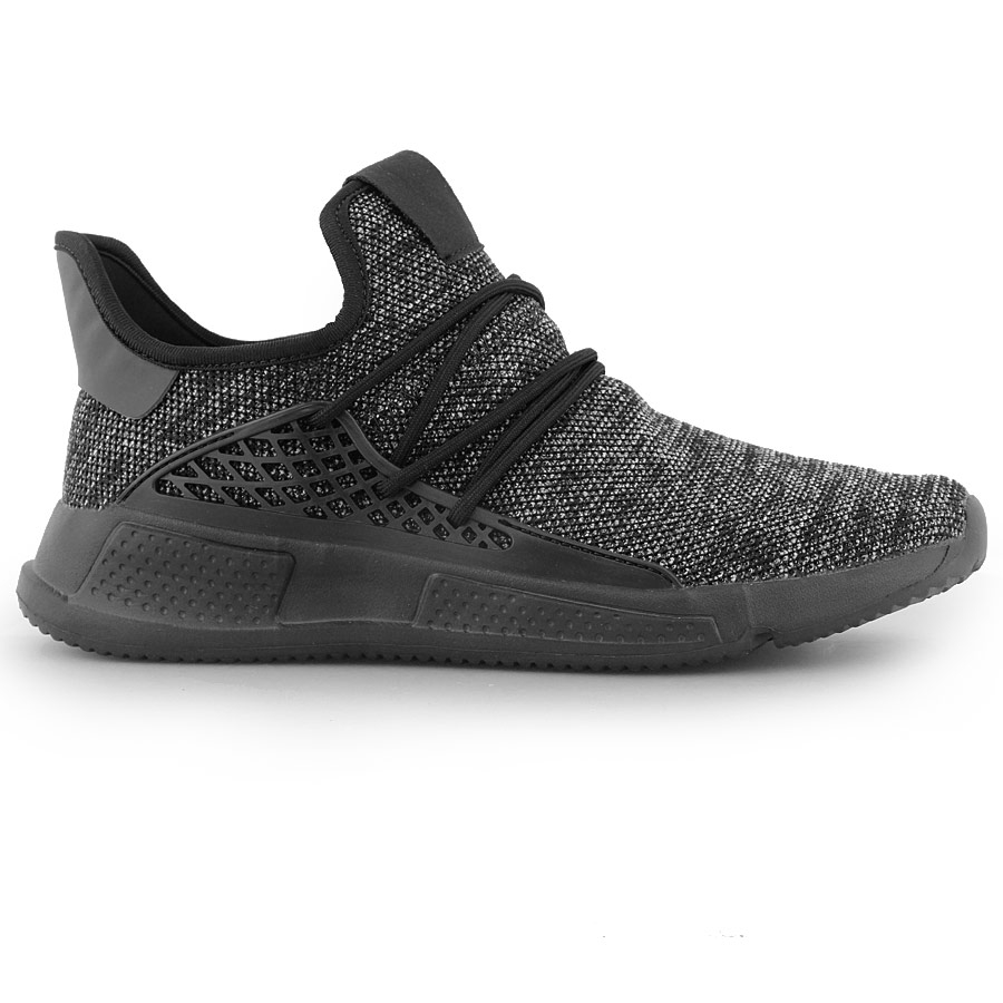 Ανδρικά sneakers με ανάγλυφα σχέδια Μαύρο/Λευκό