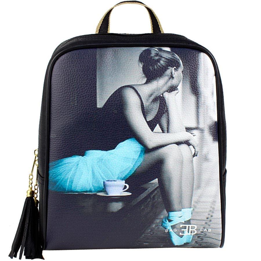 Γυναικεία σακίδια πλάτης με print ballerina Μαύρο