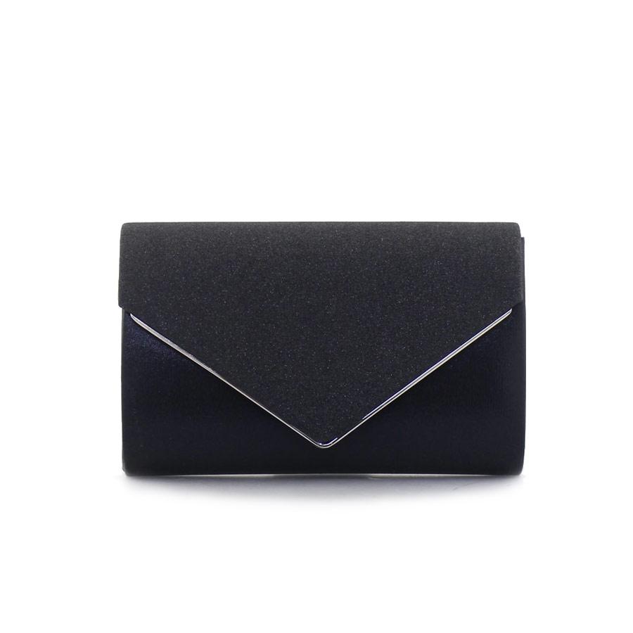 0986d61b06 Γυναικείοι φάκελοι μεταλιζέ με glitter Μαύρο
