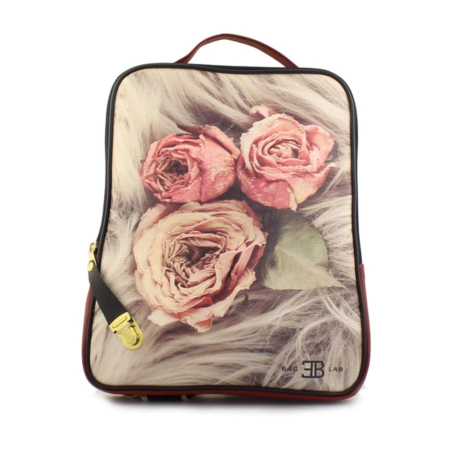 Γυναικεία σακίδια πλάτης με τριαντάφυλλα Μπορντώ