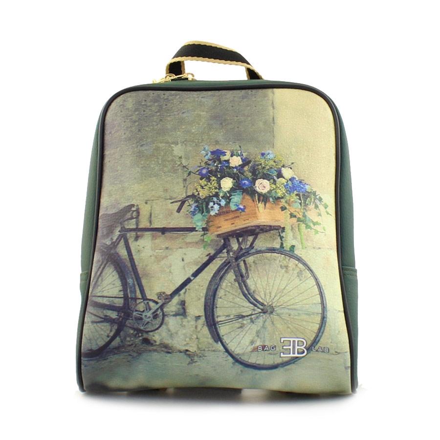 Γυναικεία σακίδια πλάτης με ποδήλατο με λουλούδια Πράσινο