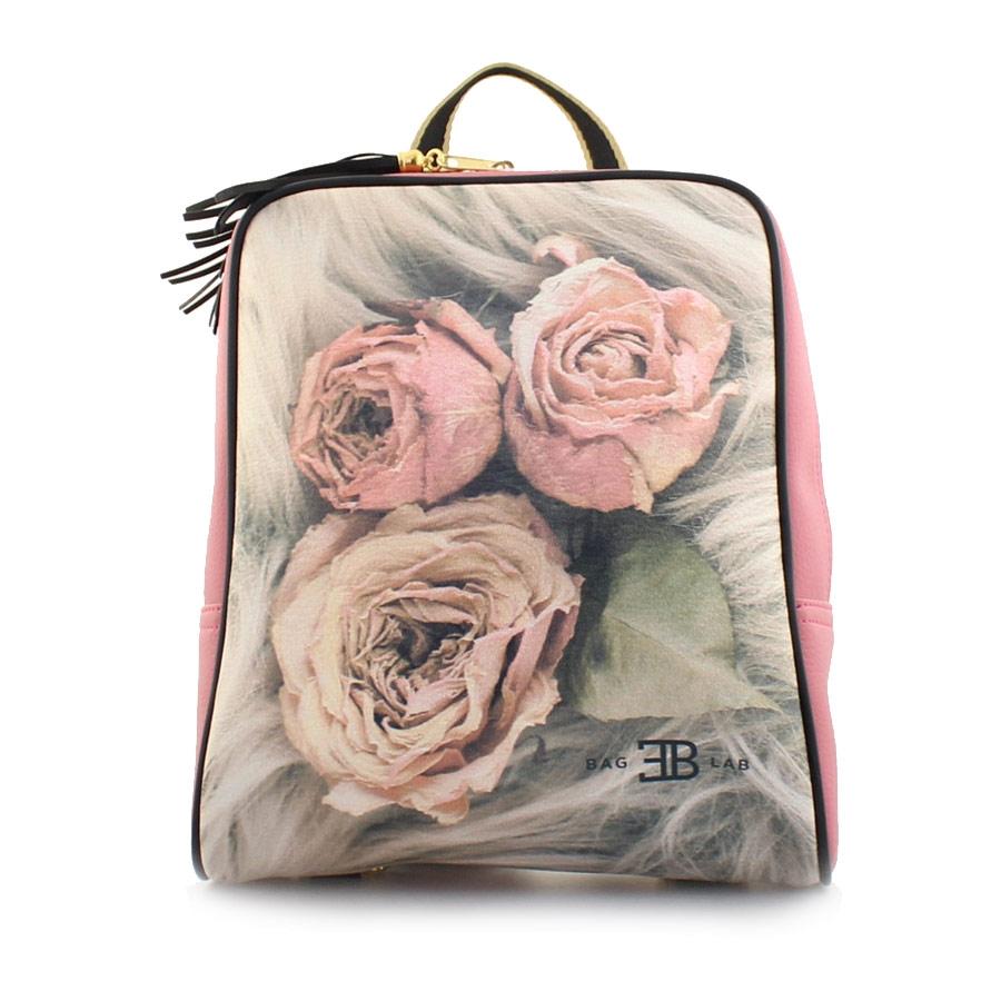 Γυναικεία σακίδια πλάτης με τριαντάφυλλα Ροζ
