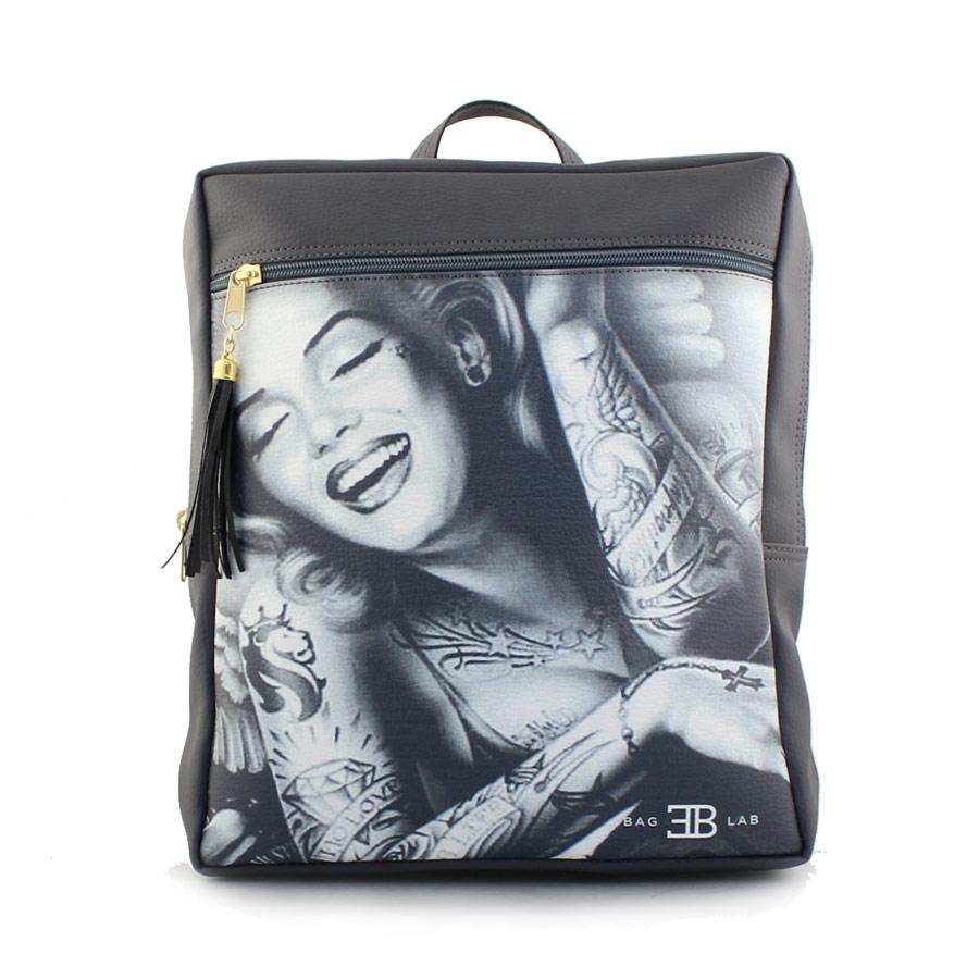 Γυναικεία σακίδια πλάτης με Merilyn Monroe Γκρι