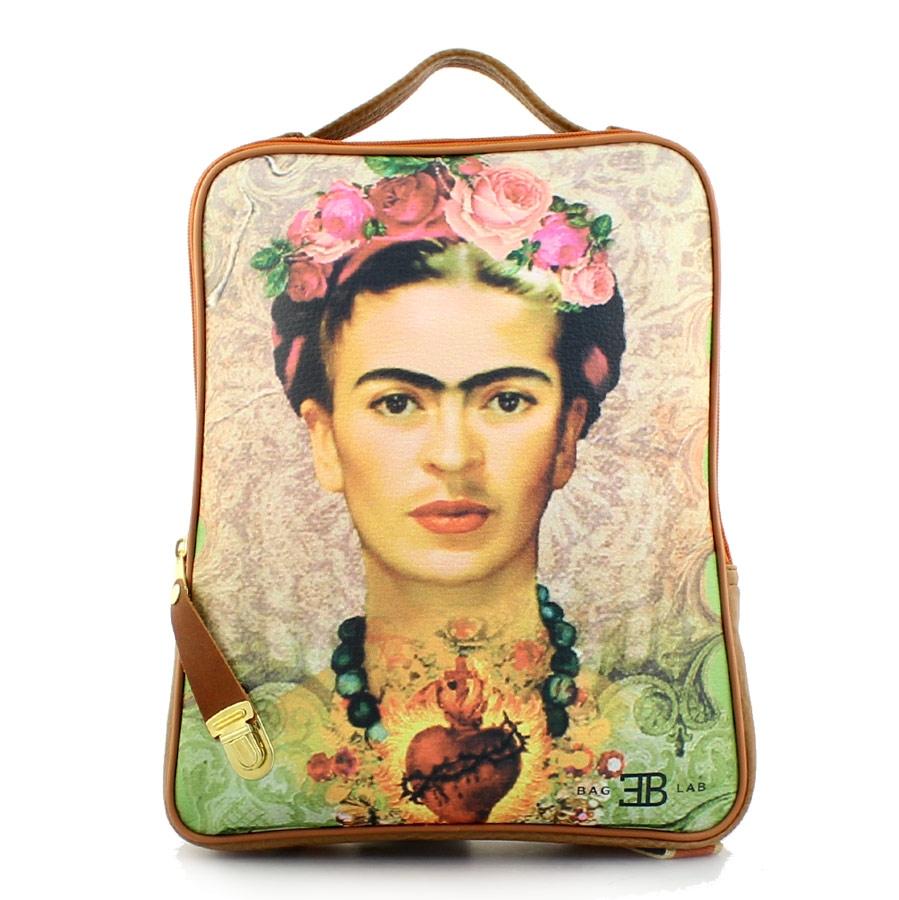 Γυναικεία σακίδια πλάτης με print Φρίντα Πούρο 3e403ae2a01