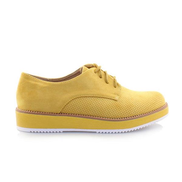 Γυναικεία loafers μονόχρωμα Κίτρινο