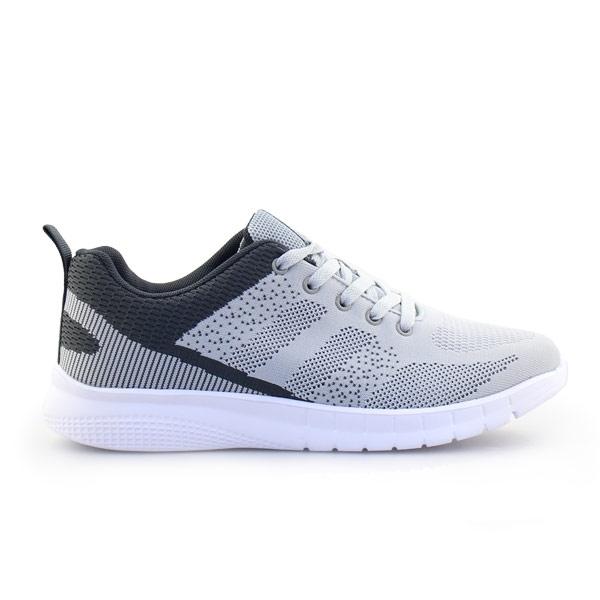 Ανδρικά sneakers με δίχρωμο σχέδιο Γκρι