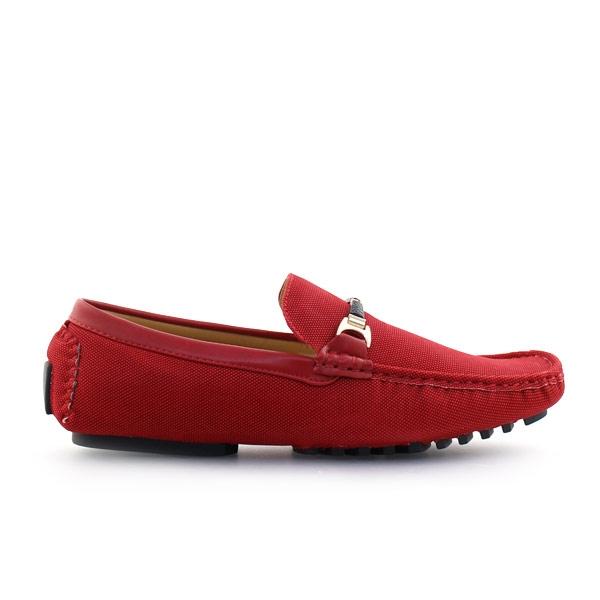 Ανδρικά loafers σε απλή γραμμή Κόκκινο