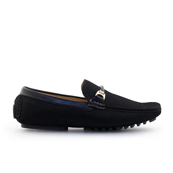 Ανδρικά loafers σε απλή γραμμή Μαύρο