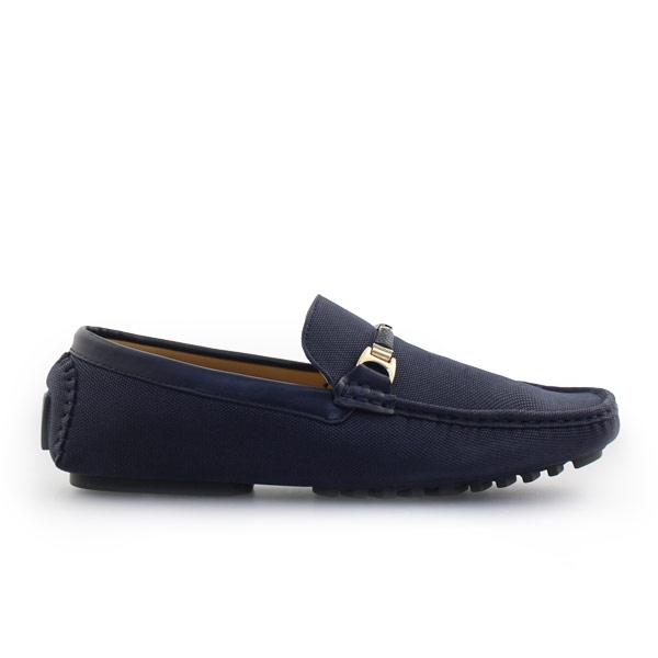 Ανδρικά loafers σε απλή γραμμή Μπλε