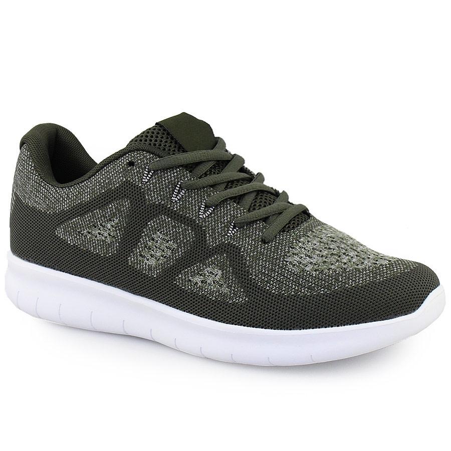 Ανδρικά sneakers δίχρωμα με γκοφρέ μοτίβο Λαδί