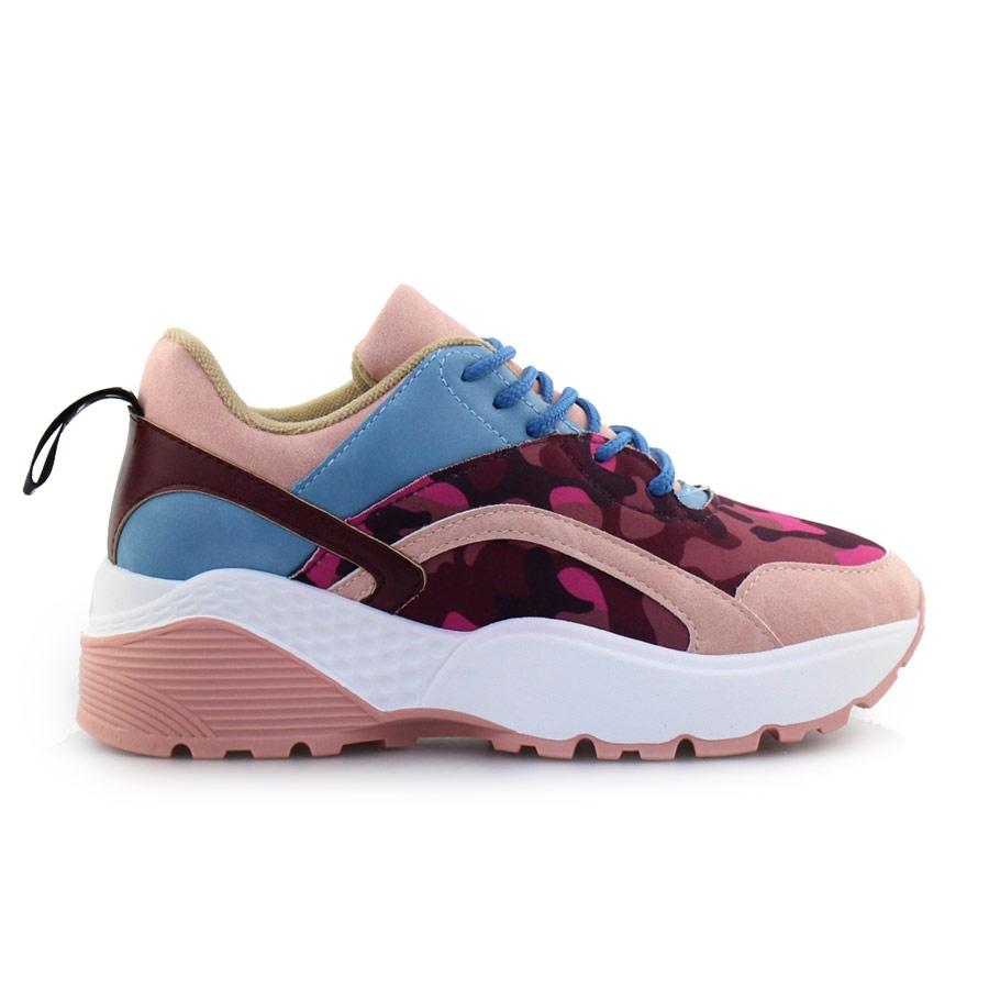 Γυναικεία sneakers πολύχρωμα Ροζ