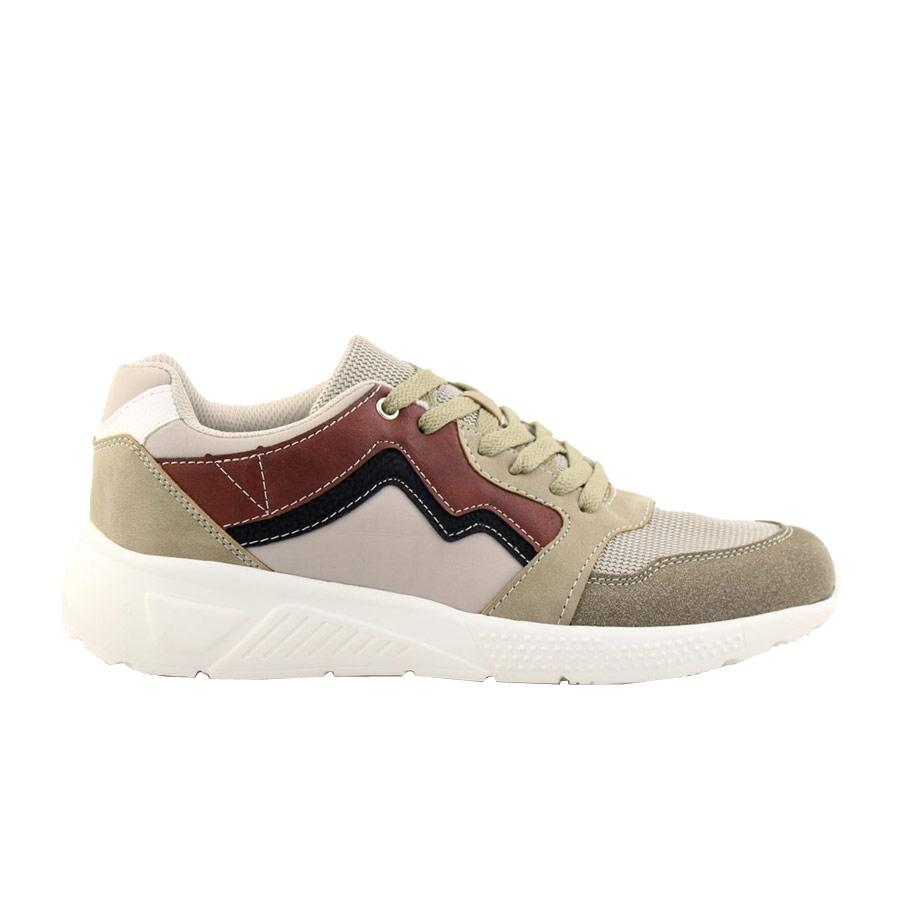 Ανδρικά sneakers με χρωματιστές λεπτομέρειες Μπεζ