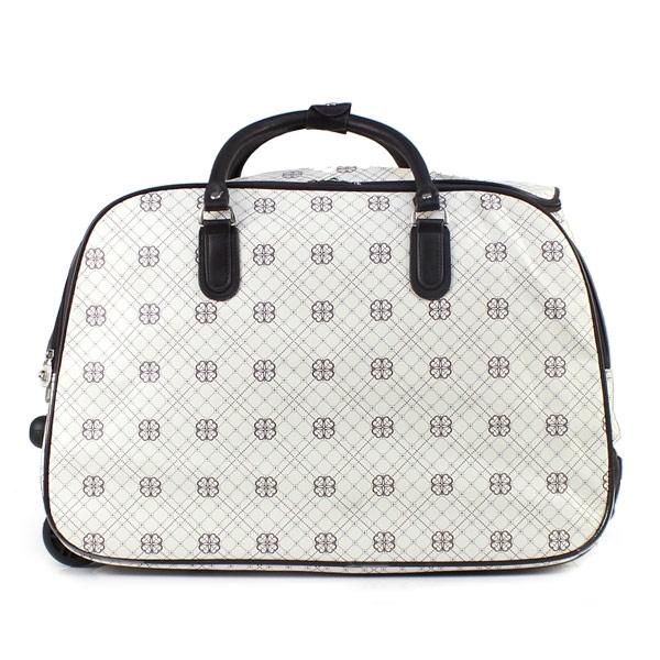 Γυναικείες τσάντες ταξιδίου με καρό μοτίβο Λευκό
