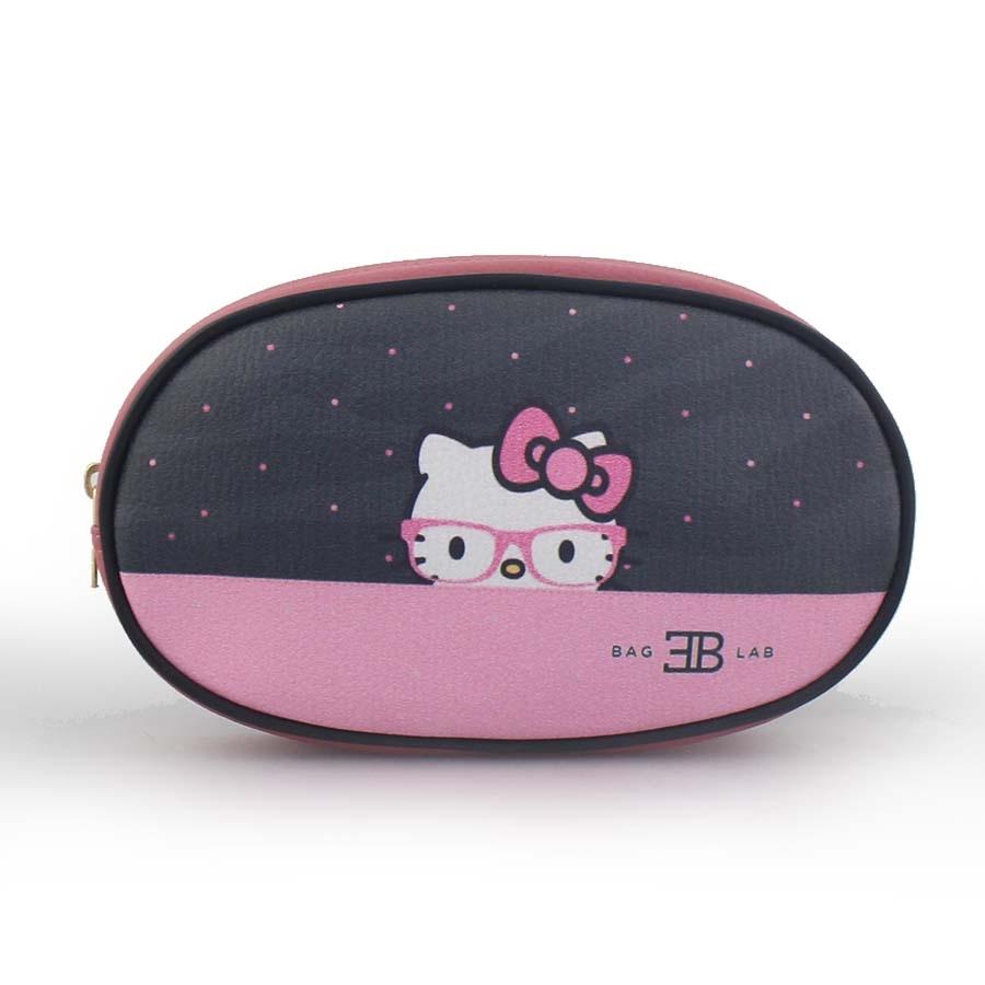 Γυναικείες τσάντες μέσης πουά με Hello Kitty Ροζ