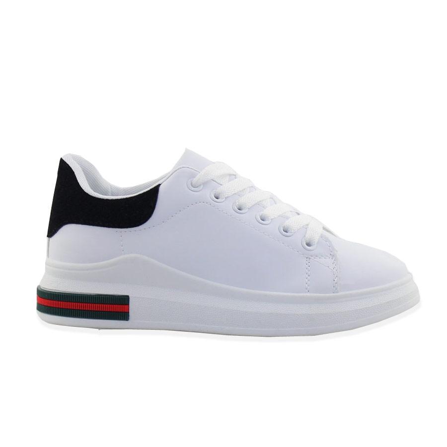 Γυναικεία sneakers με δίχρωμο σχέδιο Λευκό/Μαύρο