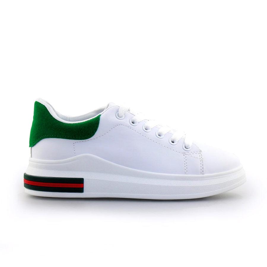 Γυναικεία sneakers με δίχρωμο σχέδιο Λευκό/Πράσινο