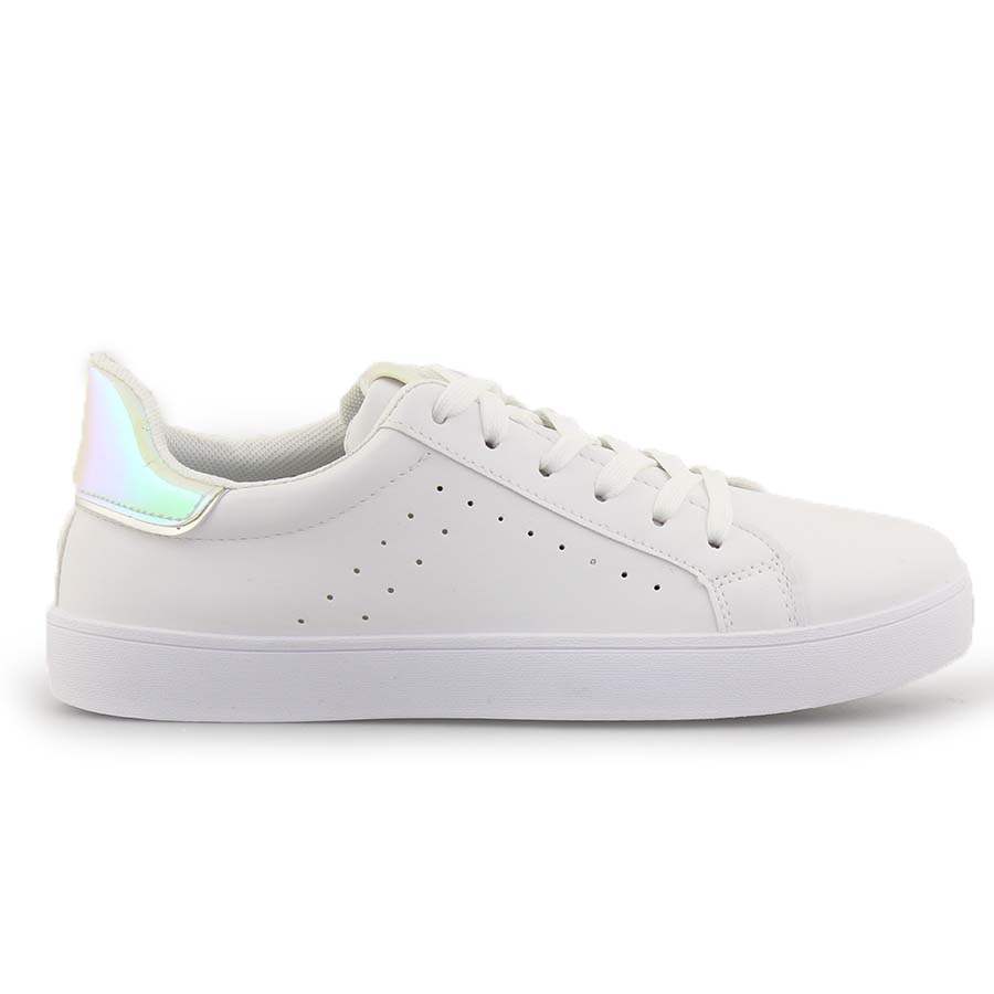 Γυναικεία sneakers με λεπτομέρεια Λευκό/Ροζ