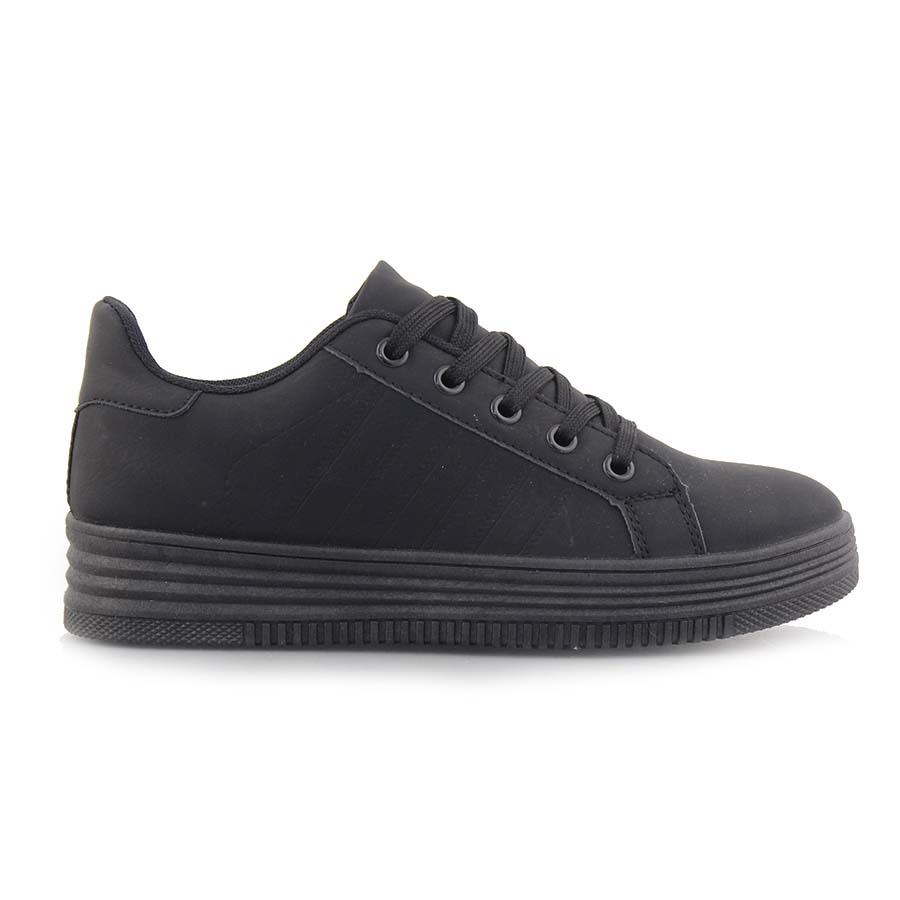Γυναικεία sneakers μονόχρωμα Μαύρο