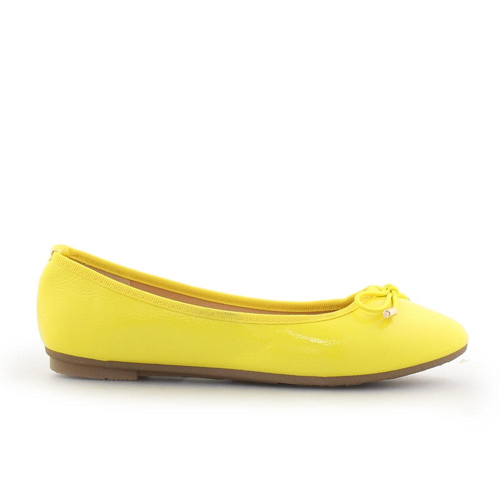 Γυναικείες μπαλαρίνες λουστρίνι Κίτρινο