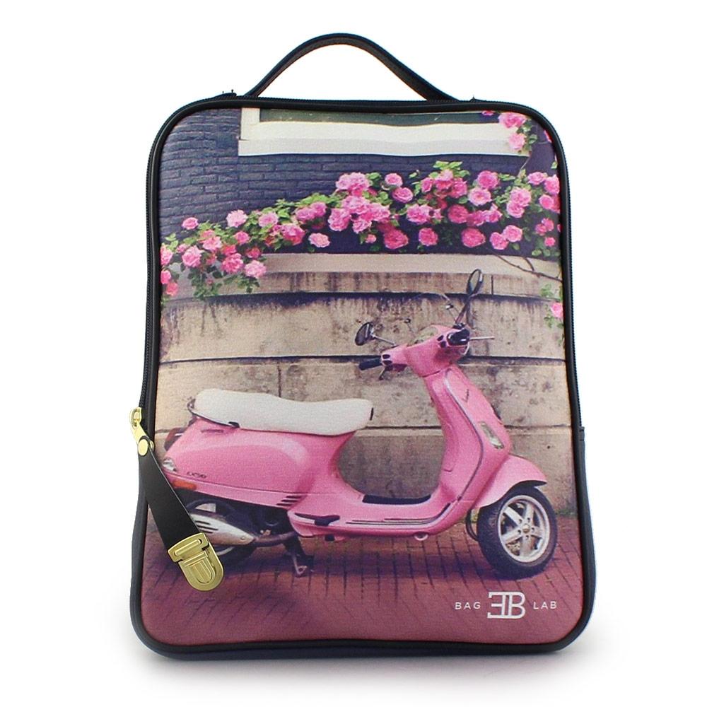 Σακίδια πλάτης με print pink vespa Navy