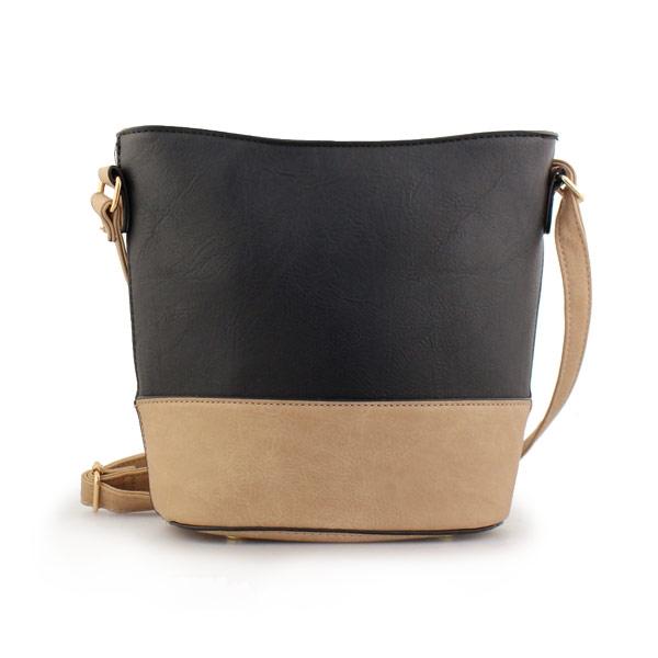 Γυναικείες τσάντες ώμου δίχρωμες Μαύρο