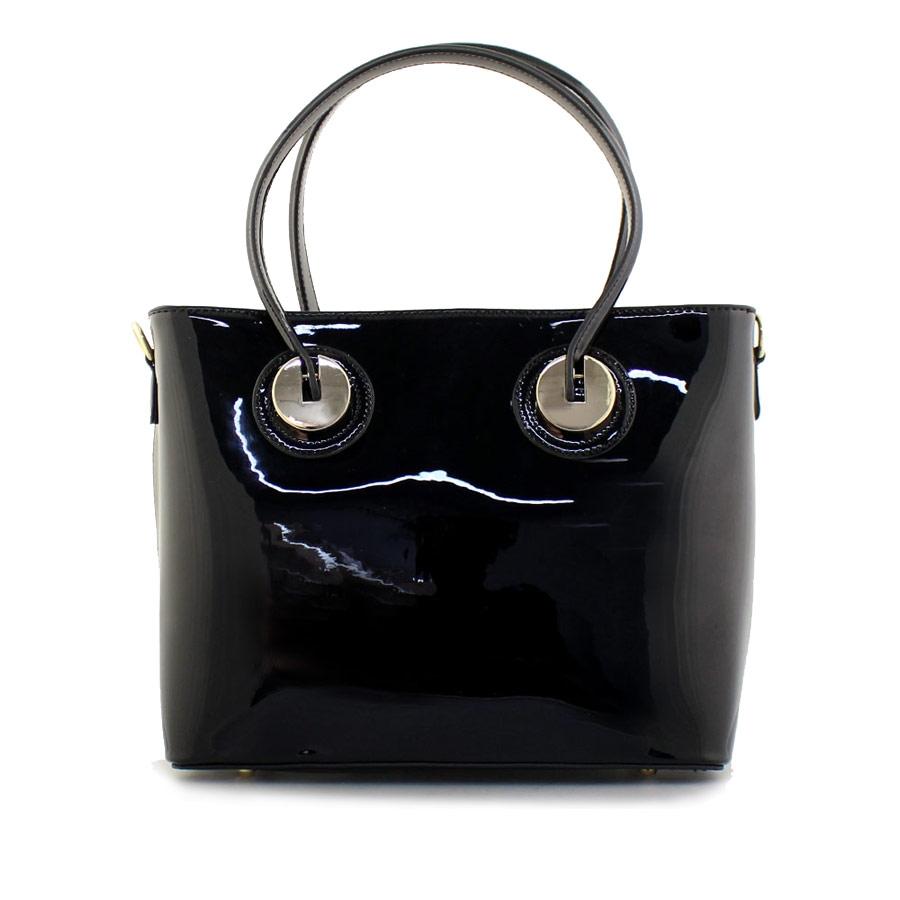 af3f3b7b5b Γυναικείες τσάντες χειρός λουστρίνι Μαύρο ⋆ EliteShoes.gr