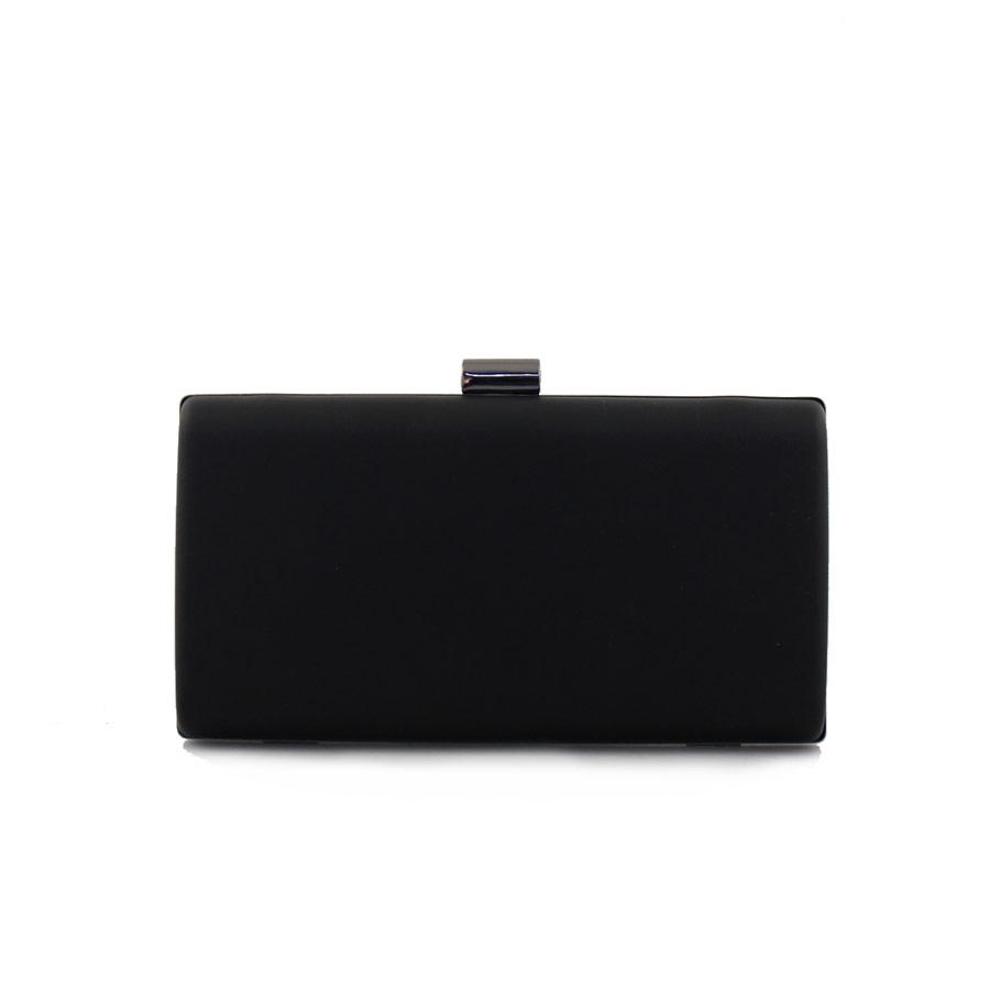 Γυναικείοι φάκελοι clutch με αλυσίδα Μαύρο