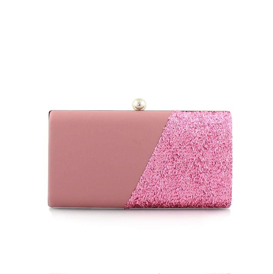 3d552723eb 17.99 € στο Inshoes. Γυναικείοι φάκελοι clutch με ανάγλυφη λεπτομέρεια Ροζ