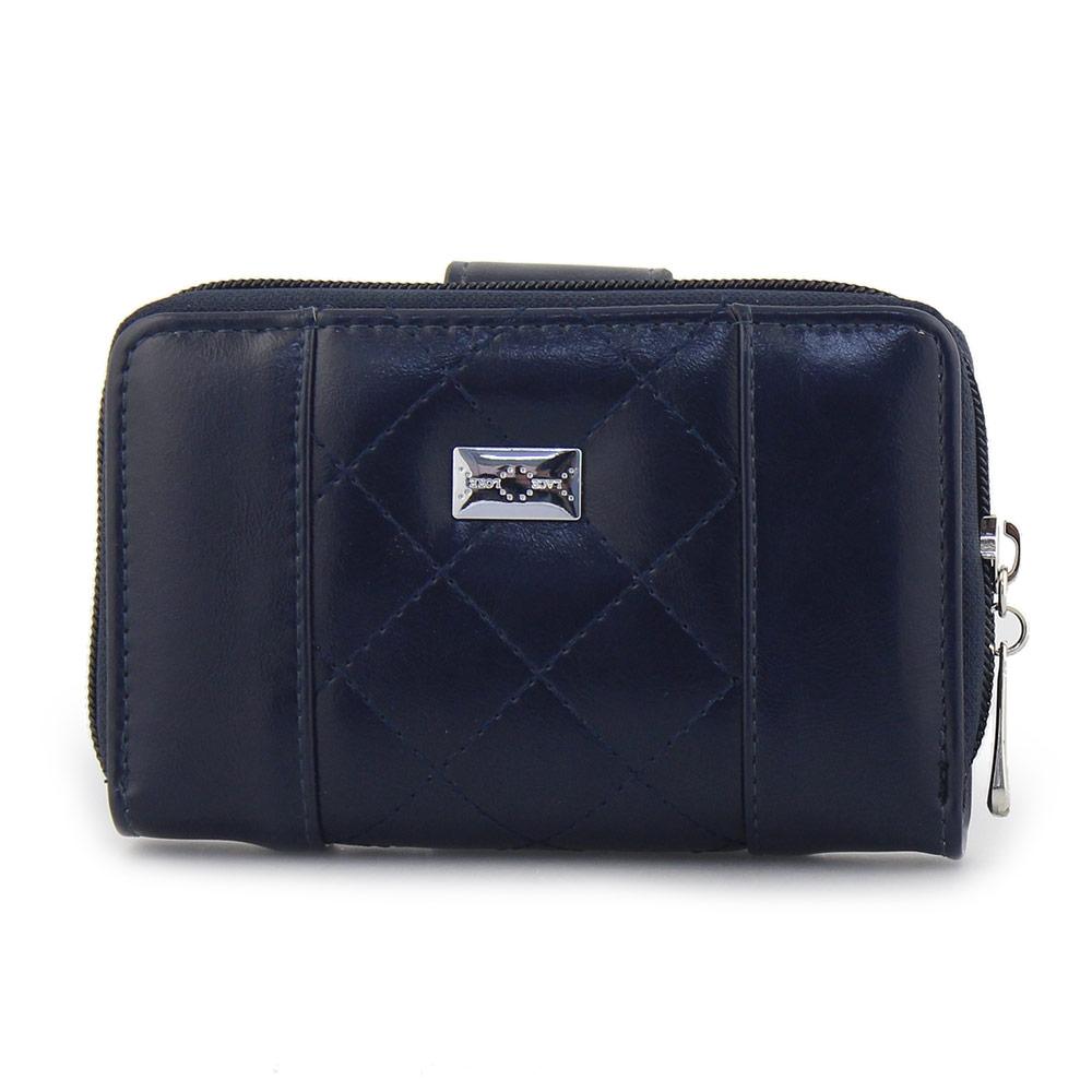 feca392aa8 Γυναικεία πορτοφόλια με καπιτονέ λεπτομέρεια Μπλε