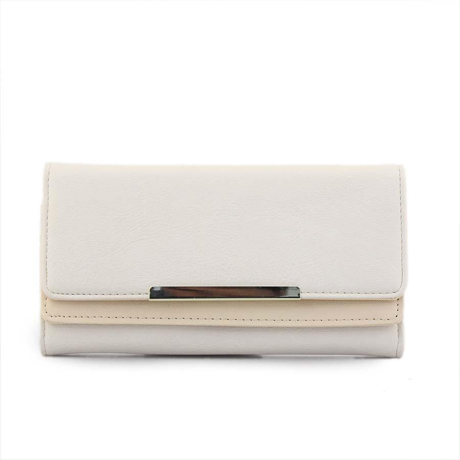 49df8ba914 Inshoes Γυναικεία πορτοφόλια με μεταλλικό διακοσμητικό Μπεζ