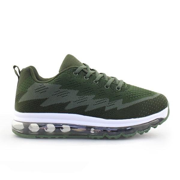 Ανδρικά sneakers με δίχρωμο σχέδιο Χακί