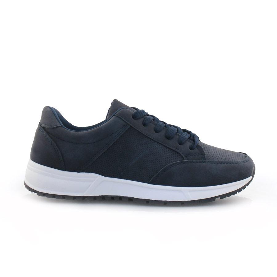 Ανδρικά sneakers σε απλή γραμμή Navy