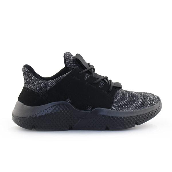 Ανδρικά sneakers με δίχρωμη λεπτομέρεια Μαύρο