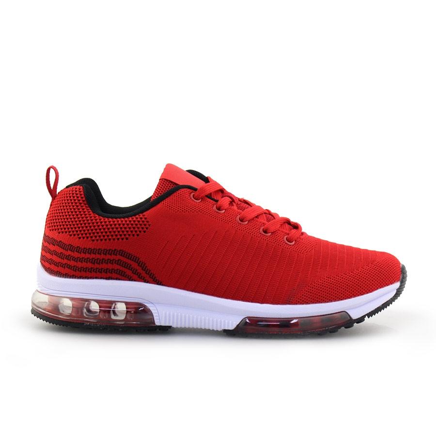 Ανδρικά sneakers με σχέδιο και αερόσολα Κόκκινο